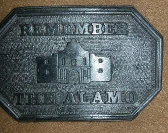 Alamo belt buckle