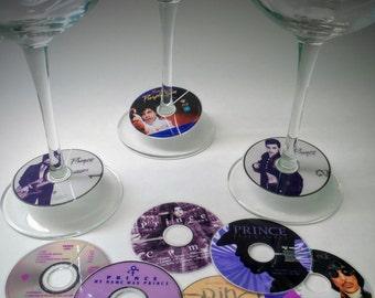 Prince CD Hits Wine Glass Tags | Re-usable Wine Glass Stem Tags | Wine Tags | Wine Glass Tags