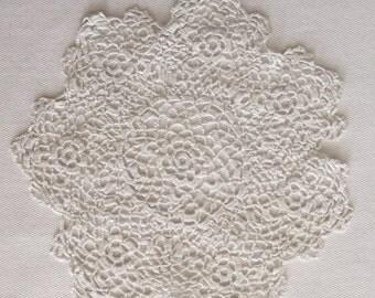Vintage English Handmade White Doily