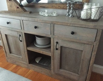 Rustic Side Board Dining Room Buffet