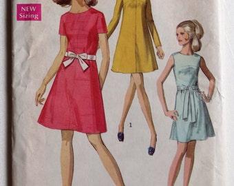 "Swing Dress Pattern Vintage Simplicity Pattern 8536 Size 14 Bust 36""."