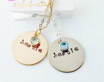 """Bestie Necklace #1 - """"Bestie"""""""
