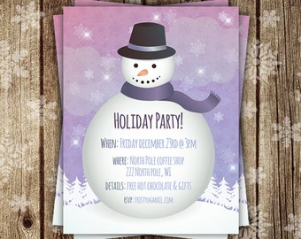 Christmas Flyer, Holiday Flyer,  Christmas Party Flyer, Snowman Flyer, Christmas Invite, Christmas party invite, DIGITAL Christmas flyers