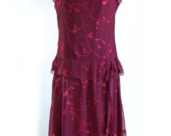 Silk Garnet Party Dress