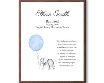 Art For Baby Baptism, Christening Art From Godparents, Dedication Day, Naming Day
