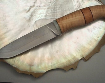 Composite Damascus Bushcraft Knife