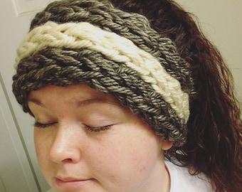 Ear Warmer -- finger knitted