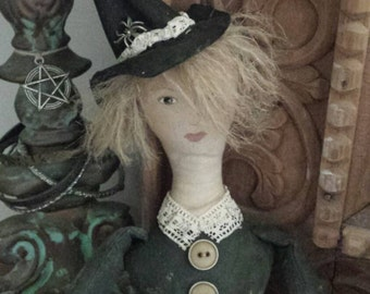 Rustic Country Witch doll.