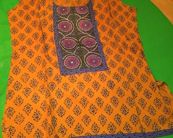 Top, Indian, ethnic, batik, handmade top