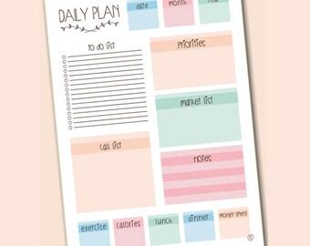 daily planner printable A4 planificador diario para imprimir