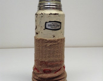 stanley thermos with knitted cover