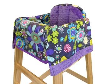 Lavender Flower Garden High Chair Cover Restaurant