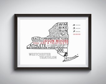 Custom Triathlon Word Art