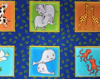 Children's picture frame print fabric