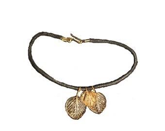 Leaf cord Bracelet