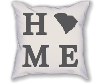 South Carolina Home State Pillow