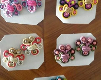 5 pairs of small earrings soutache
