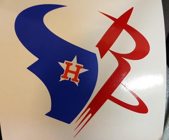3 Team Logo Houston Texans Astros Rockets 3 Colors