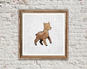 DEER PRINT: Cute Nursery Printable Art. Animal Print. Deer Poster, Deer Printable, Nursery Printable, Printable Art, Instant Download
