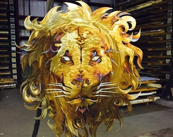 Handcrafted Metal Leo Lion