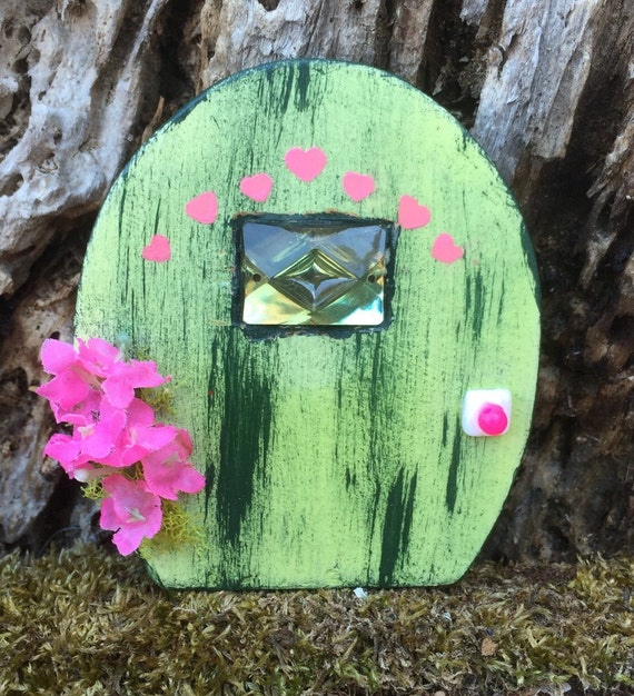 Miniature fairy door miniature gnome door green fairy door for Mini fairy door