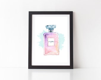 SALE - Chanel Perfume Print - Chanel, Coco Chanel Print, Chanel Perfume,  Coco Chanel, Fashion Print, Digital Download, Girly Print