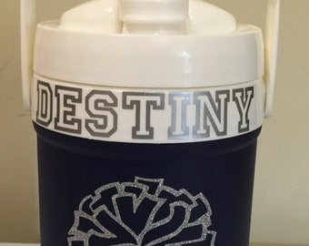 Personalized sport water bottles with fence hooks