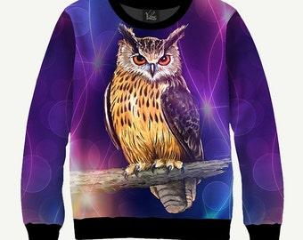 Owl - Men's Women's Sweatshirt   Sweater - XS, S, M, L, XL, 2XL, 3XL, 4XL, 5XL