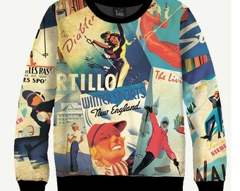 Vintage Posters - Men's Women's Sweatshirt | Sweater - XS, S, M, L, XL, 2XL, 3XL, 4XL, 5XL