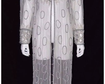 Long Vintage Sequin Jacket