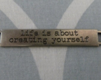 Tim Holtz Idea-ology word band - Life is about creating yourself