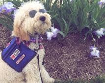 Service Dog Vests -- ultra durable -- tri-pocket -- nylon shell