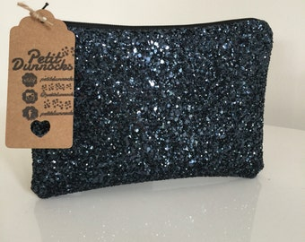 Navy glitter bag, party clutch bag, Navy blue clutch bag, evening clutch bag, wedding clutch bag, prom clutch bag, navy blue evening bag