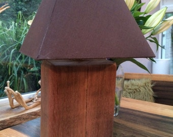 Unique Solid Wood Lamp Base - lamp shade not included, due to personal choice.