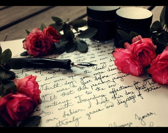 Handwritten Letter Service   Ivory A5 Paper, Black Ink   A Memorable Gift and Keepsake
