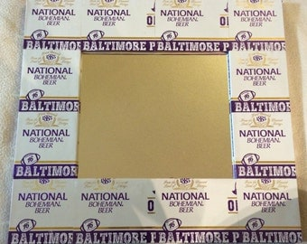Natty Boh Ravens edition Beer Can Frame Mirror