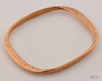 Copper Hammered Bracelet, Bangle Copper Bracelet