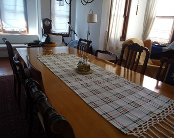 Table Runner Striped Table Runner Linen Runner Dining Table Runner  Handwoven Table Runner Kitchen Table Runner
