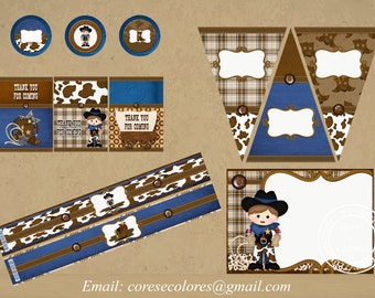 Cowboy Printable Party Package
