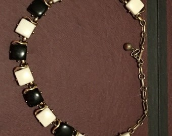 Black and White Choker Necklace