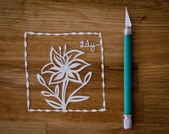 Original Papercut Lily