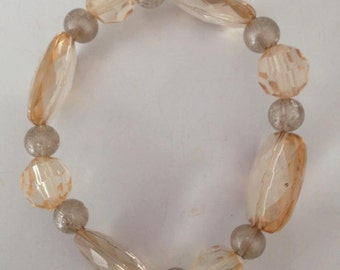 Clear/Yellow Sparkly Bracelet