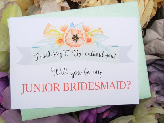 ... , Ask Junior Bridesmaid, Junior Bridesmaid Gift, Wedding Invitation