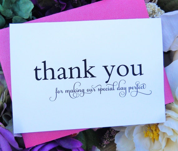 Wedding Planner THANK YOU Card, Wedding Thank You Cards, Personalized ...