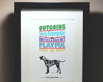 Dog lover print - Dalmation Personality Traits