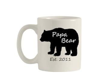 Father's Day Gift, Papa Bear, Papa Bear Mug, Mugs for Dads, Funny Mugs, Mugs, Coffee Mug, Custom Mug, Fathers Day Mug, Quote Mug, M00098