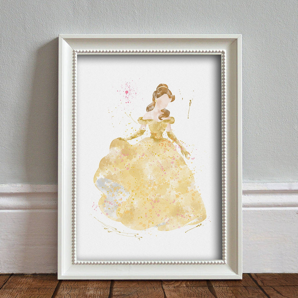 Beauty And The Beast Belle Art Print Illustration Watercolor