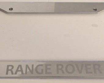 Range Rover Sport-  Chrome with Grey Limited Edition Automotive License Plate Frame -