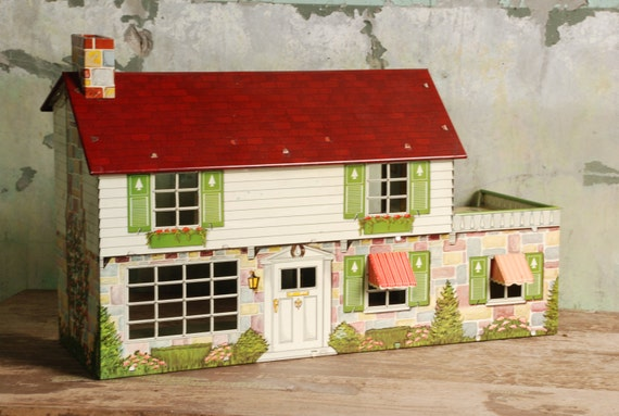 Marx 1950 S Vintage Metal Doll House And By Farmshopchic501