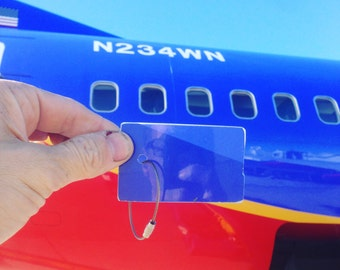 Former Southwest Airlines aircraft Rectangle Boeing 737 Fuselage Keychain